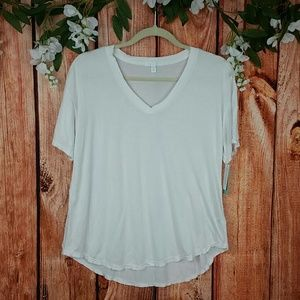 NWT Abound White Raw Hem Tee